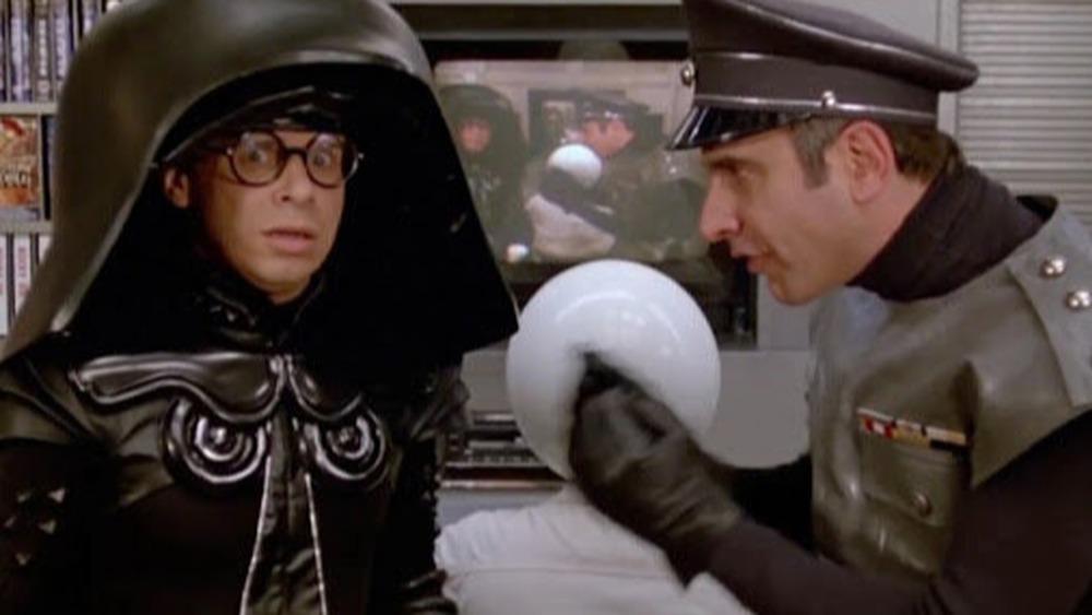 Rick Moranis as Dark Helmet and George Wyner as Colonel Sandurz in Spaceballs