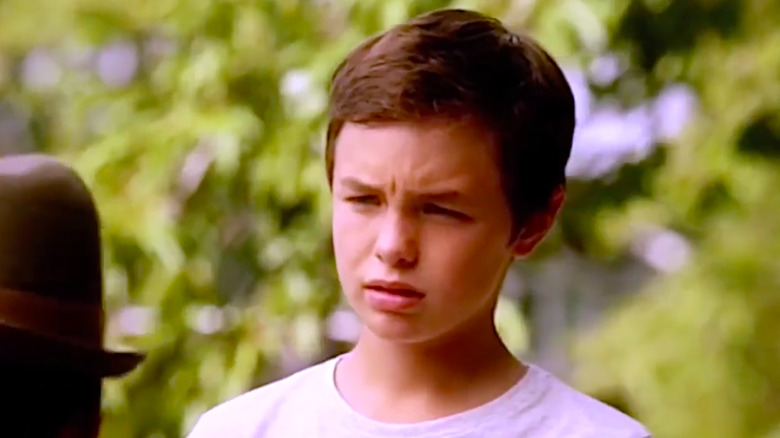 Logan Williams as Young Barry Allen on The Flash