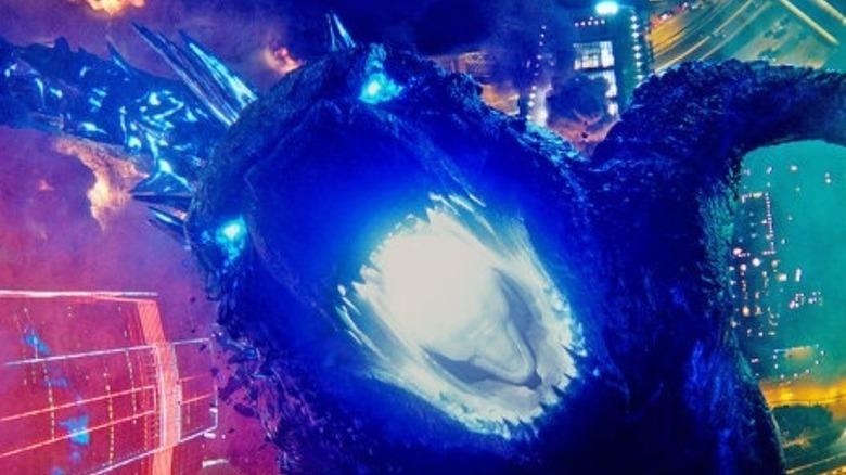 Godzilla glowing eyes and mouth