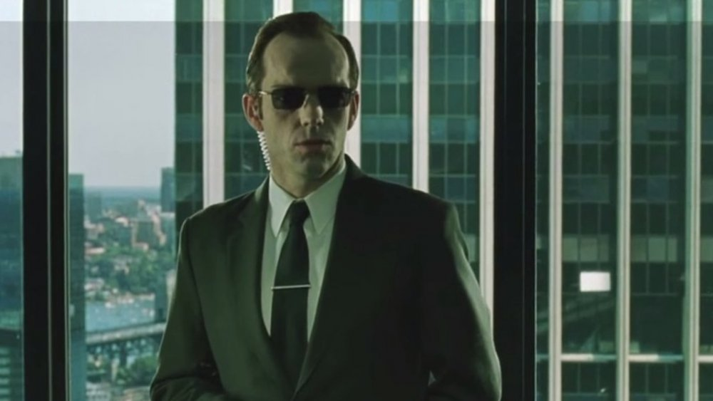 Hugo Weaving as Agent Smith in The Matrix