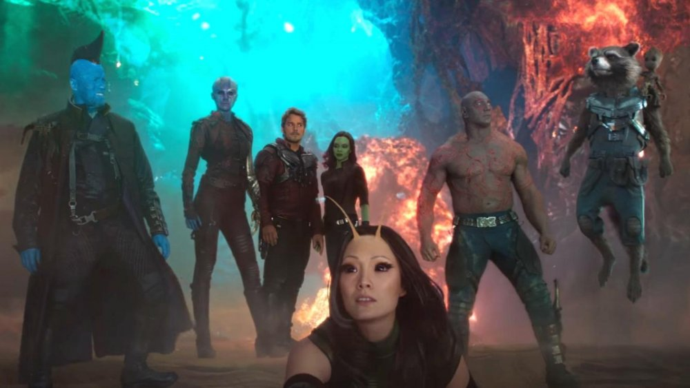 The Guardians assemble in Guardians of the Galaxy, Vol. 2