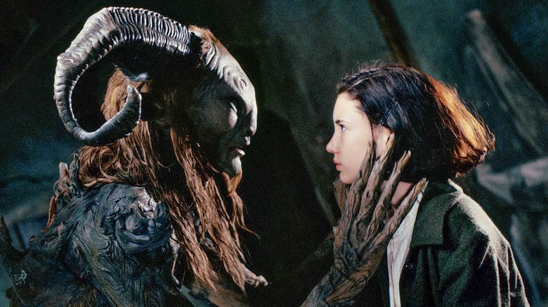 Ivana Baquero and Doug Jones in Pan's Labyrinth
