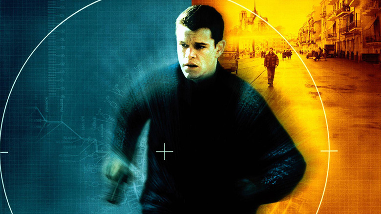 Matt Damon on The Bourne Identity poster
