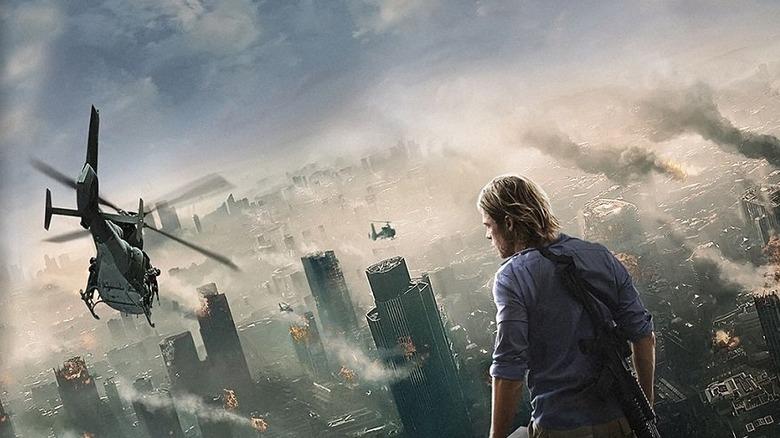 Brad Pitt on World War Z poster