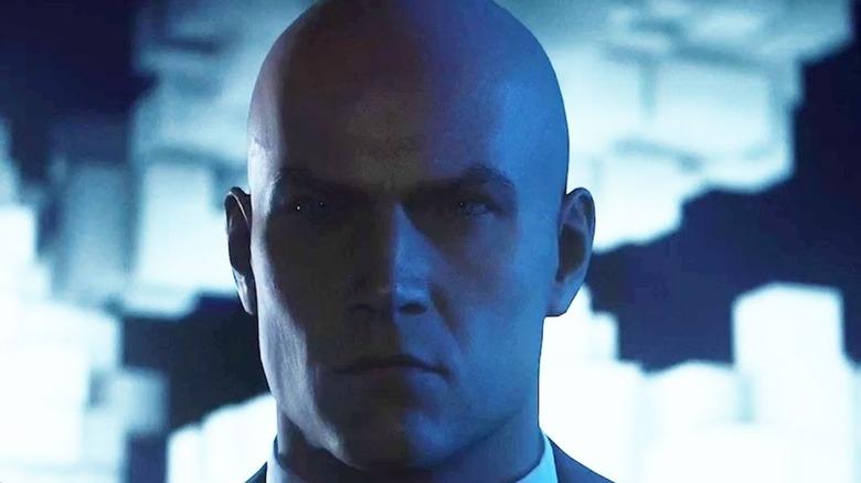 Agent 47 stares