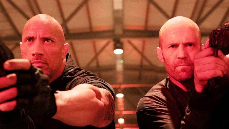 Fast and Furious Dwayne Johnson as Luke Hobbs and Jason Staham as Deckard Shaw