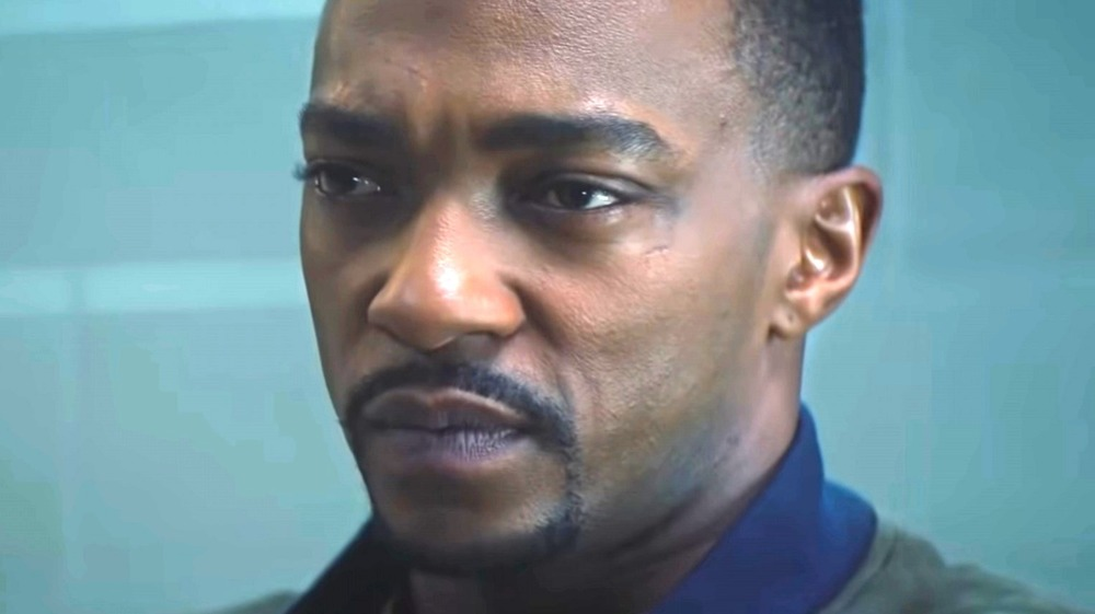 Anthony Mackie as the Falcon in The Falcon and the Winter Solider