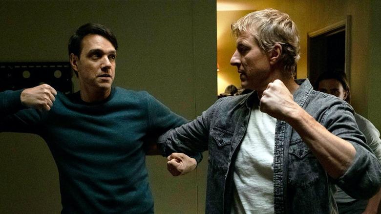 Daniel and Johnny squaring off in Cobra Kai
