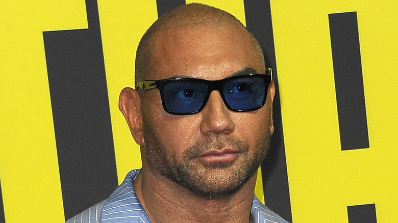 Dave Bautista at the Stuber premiere