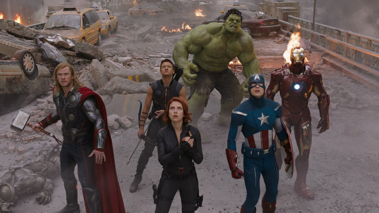 The Avengers at The Battle of New York
