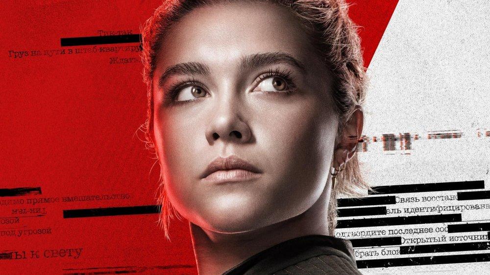 Florence Pugh as Yelena Belova in Black Widow promo art