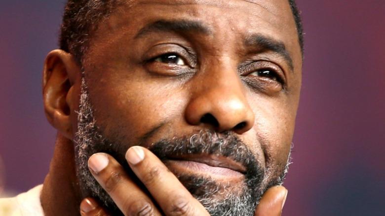 Idris Elba beard smiling