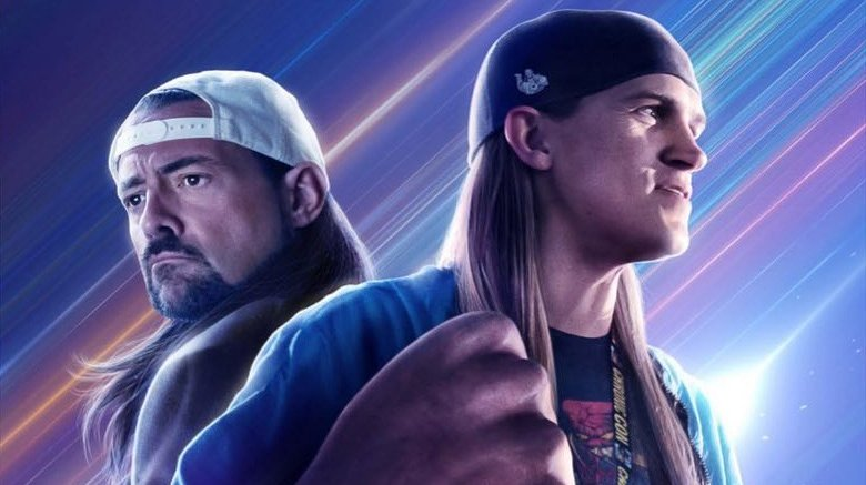 Jason Mewes and Kevin Smith on Jay and Silent Bob Reboot poster