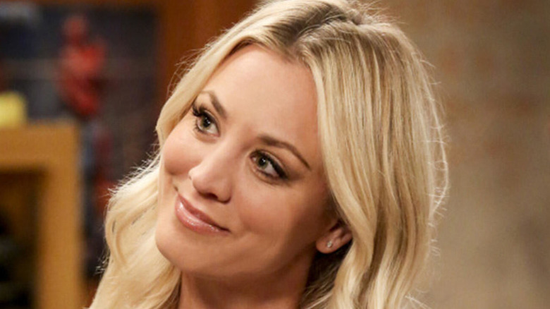Kaley Cuoco smiling