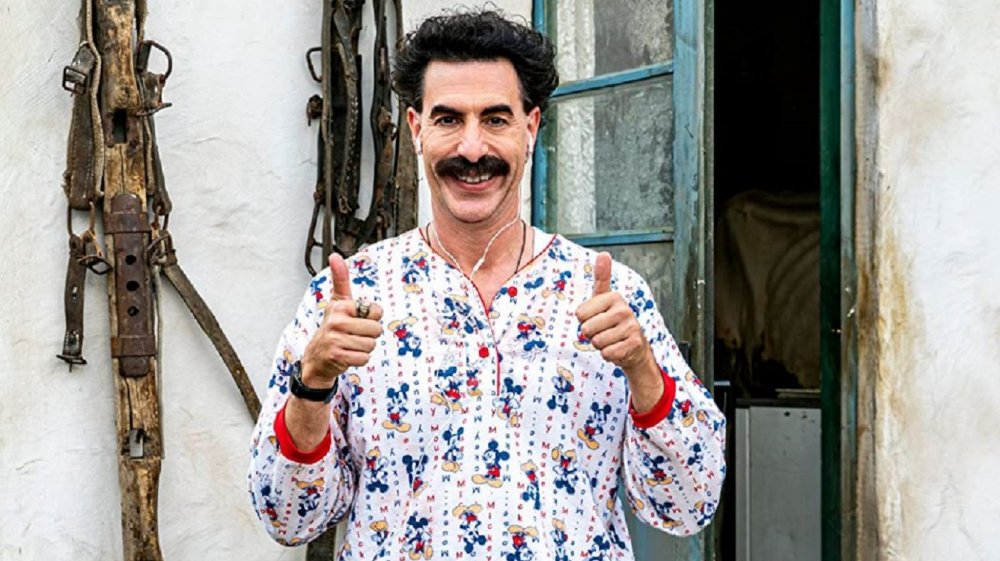 Sascha Baron Cohen as Borat Sagdiyev in Borat Subsequent Moviefilm