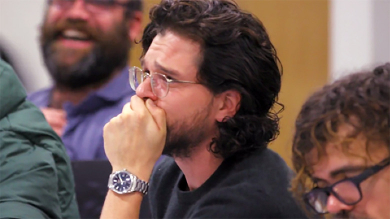 Kit Harington crying Game of Thrones series finale table read