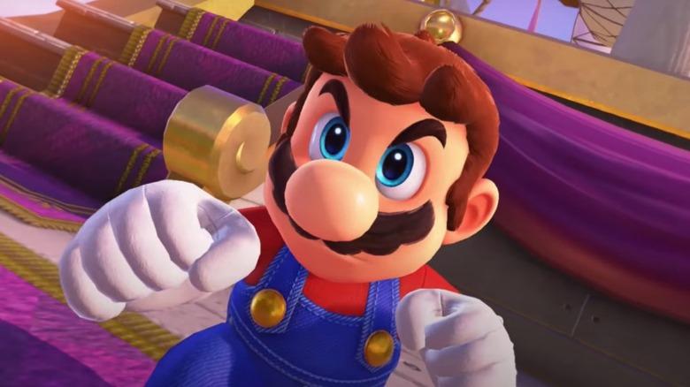 Mario's determined face