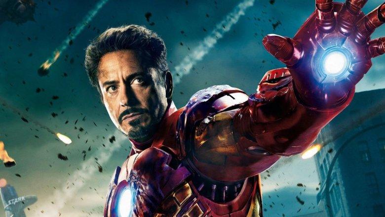 Robert Downey Jr. as Iron Man in promotional art