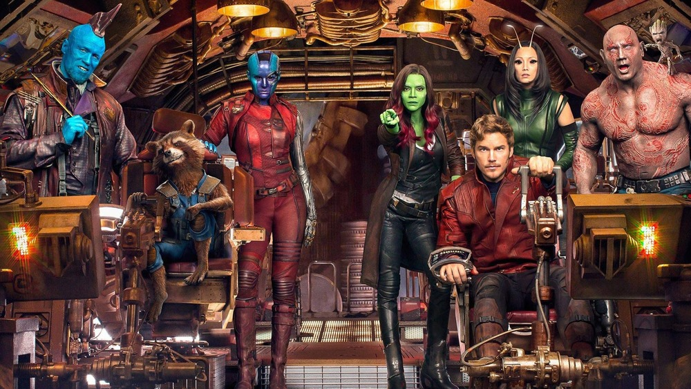 The cast of The Guardians of the Galaxy Vol. 2