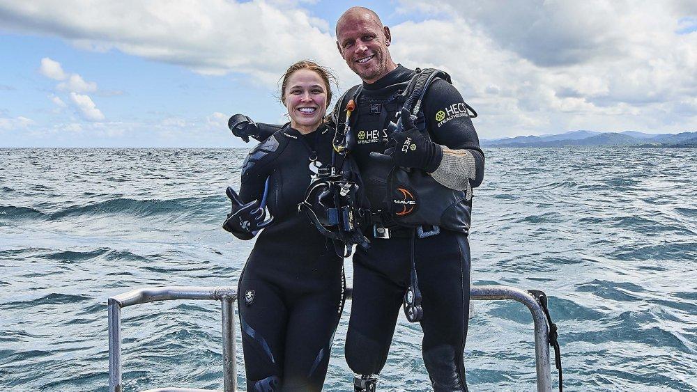 Ronda Rousey and dive instructor Paul de Gelder