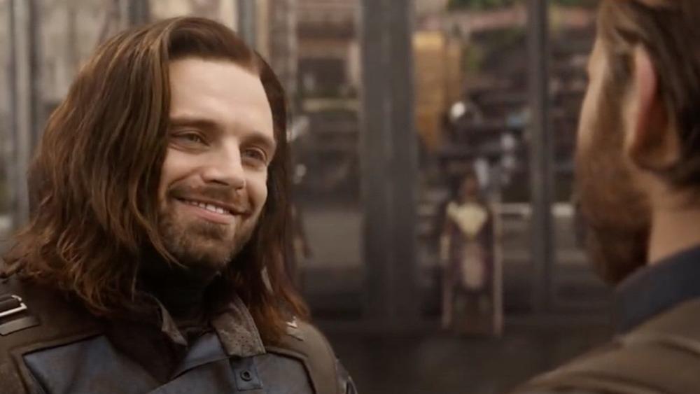 Sebastian Stan Bucky Barnes smiling