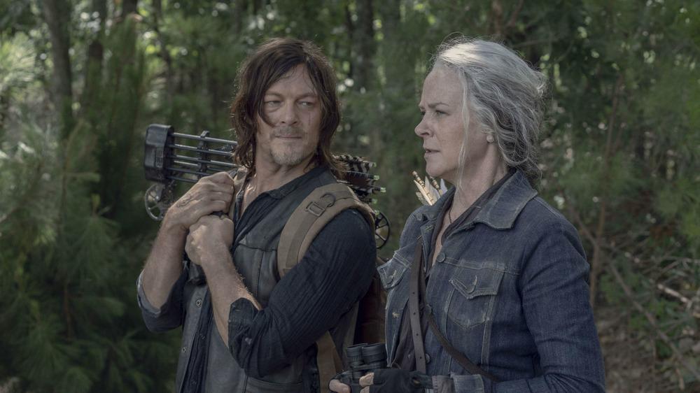 Daryl Dixon and Carol Peletier talking