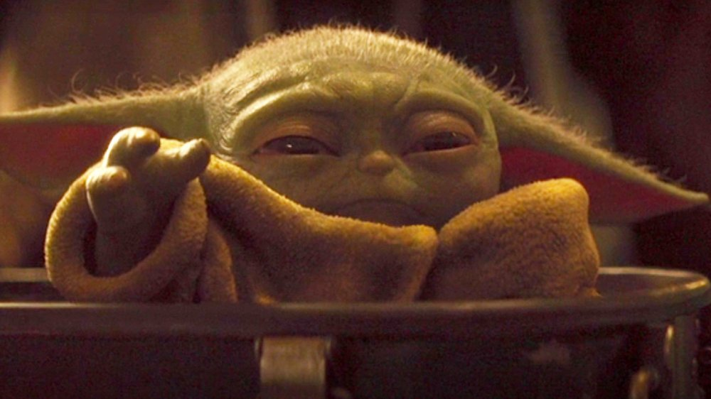 Baby Yoda on The Mandalorian chapter 7