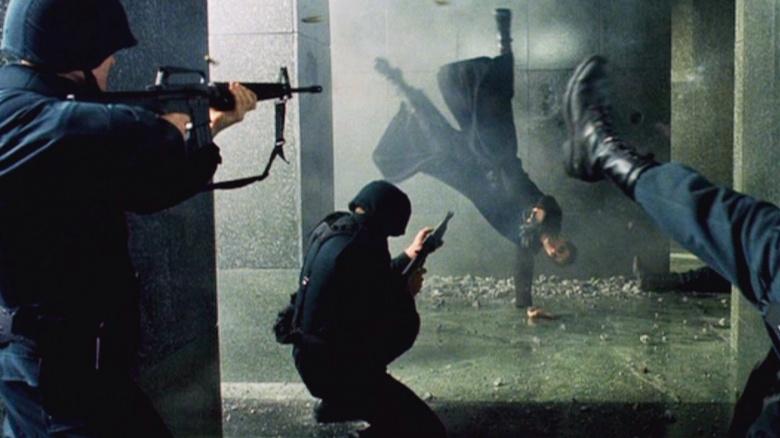 Image result for matrix lobby scene