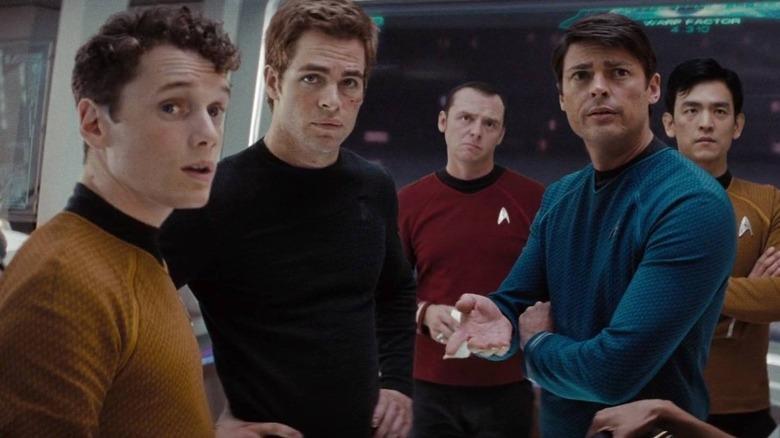 The crew of the USS Enterprise in 2009's Star Trek