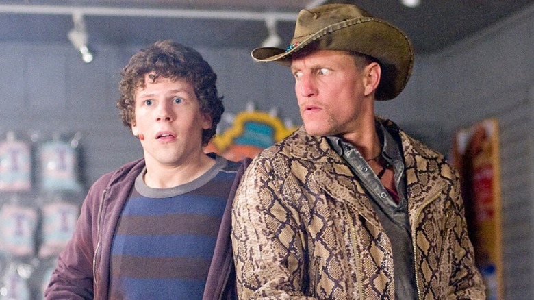 Woody Harrelson and Jesse Eisenberg in Zombieland