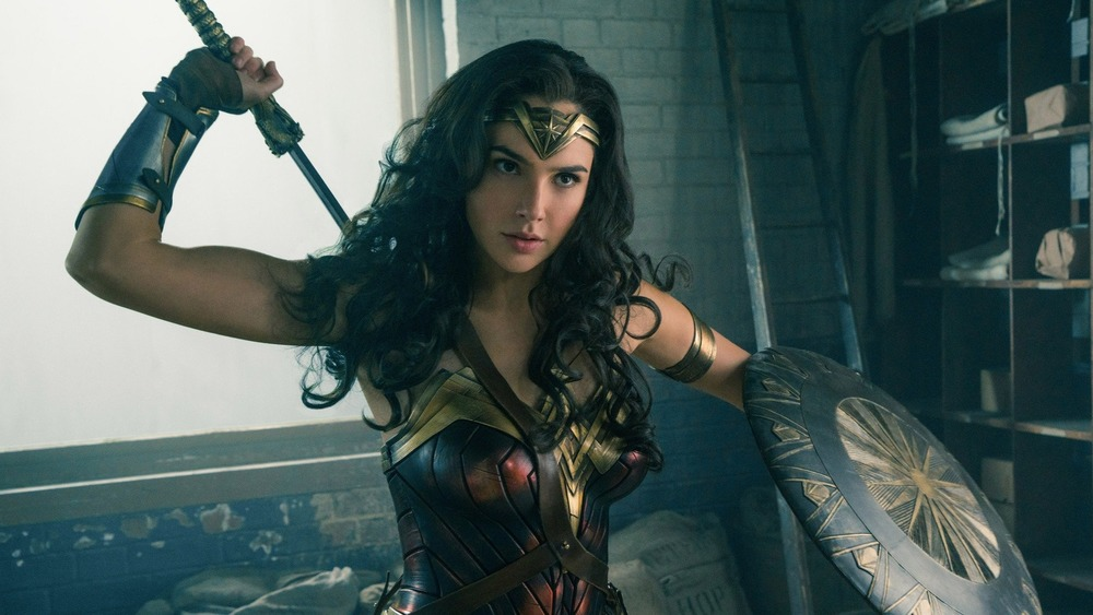 Wonder Woman grabbing her sword