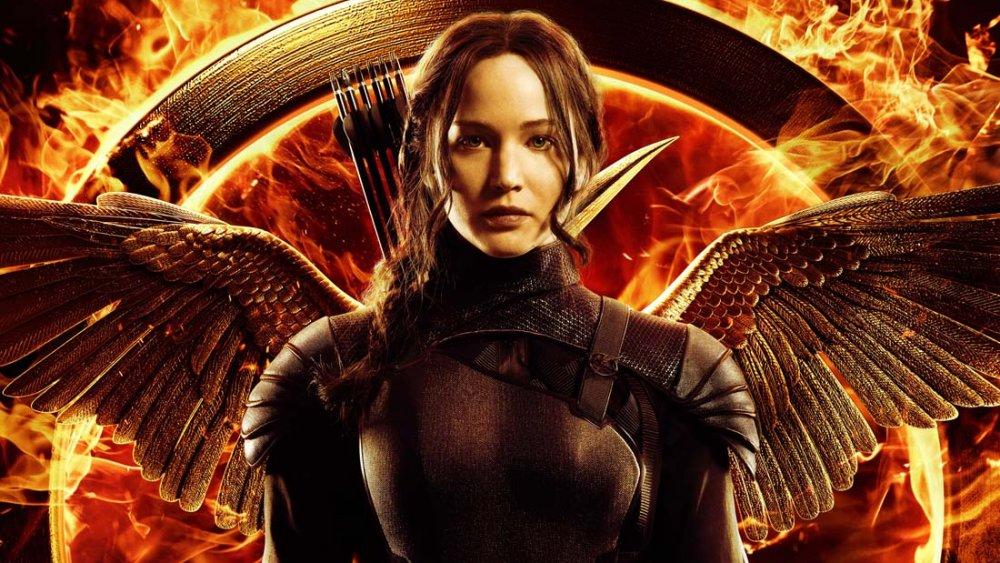 Jennifer Lawrence as Katniss in The Hunger Games Mockingjay Part 2
