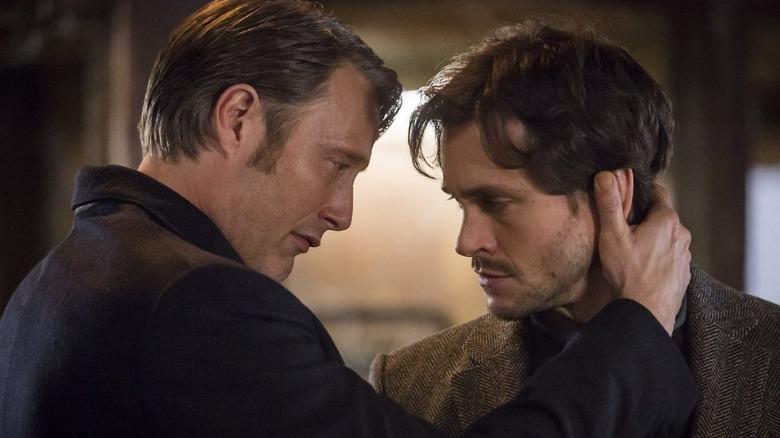 Mads Mikkelsen and Hugh Dancy in Hannibal