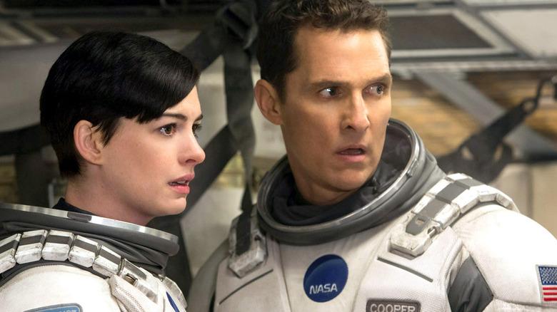 Matthew McConaughey and Anne Hathaway in Interstellar