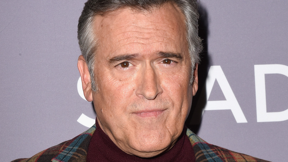 Bruce Campbell headshot at a premiere