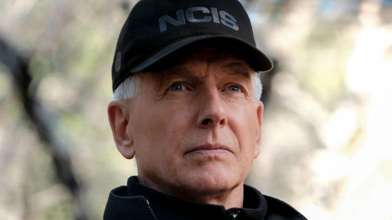 Agent Gibbs staring wearing hat