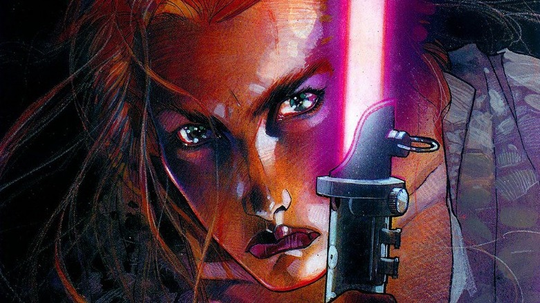 Mara Jade on cover of Star Wars: Mara Jade: By The Emperor's Hand by Timothy Zahn