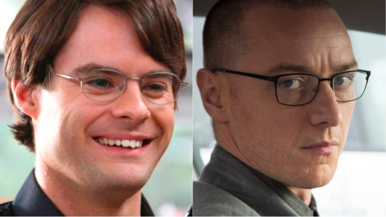 Bill Hader in Superbad and James McAvoy in Split