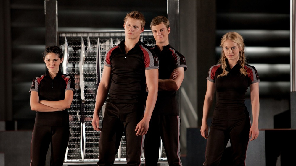 Marvel stand with Hunger Games tributes
