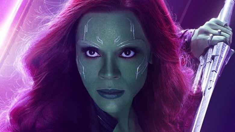 Zoe Saldana Gamora Avengers: Infinity War poster