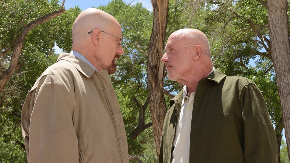 Bryan Cranston as Walt and Jonathan Banks as Mike in Breaking Bad