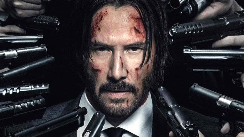 Keanu Reeves on John Wick Chapter 2 poster
