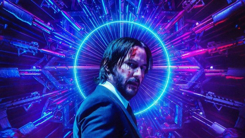 Keanu Reeves in a poster for John Wick 3