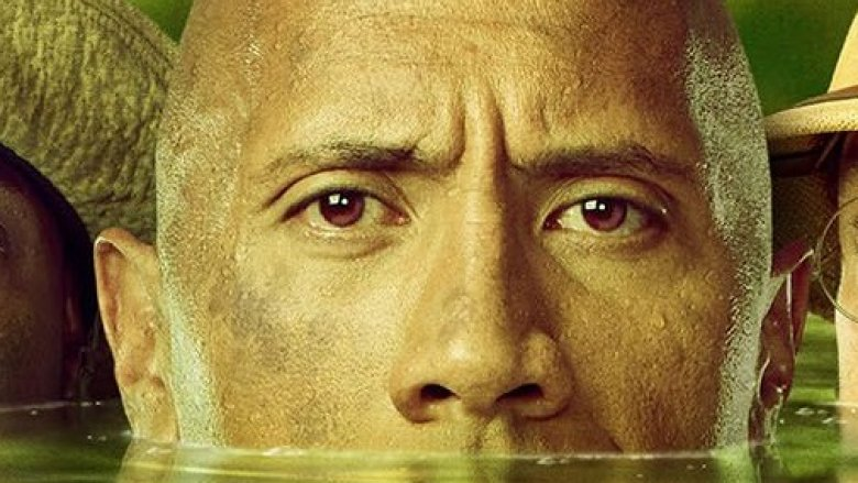 Dwayne Johnson on Jumanji Welcome to the Jungle underwater poster