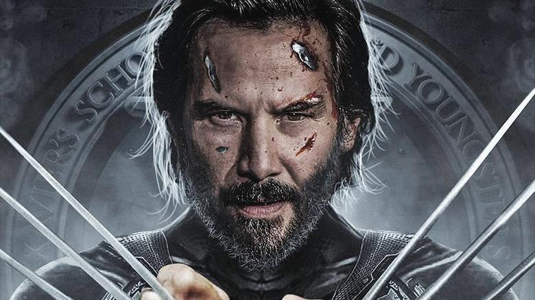 Keanu Reeves as Wolverine fan art
