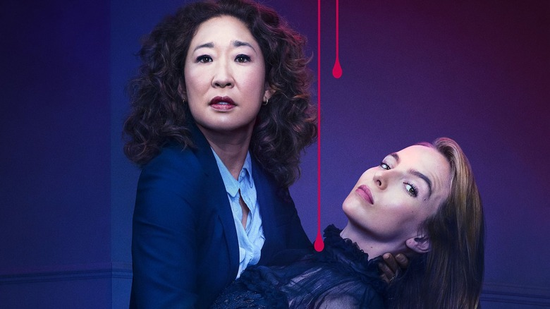 Sandra Oh and Jodie Comer Killing Eve poster