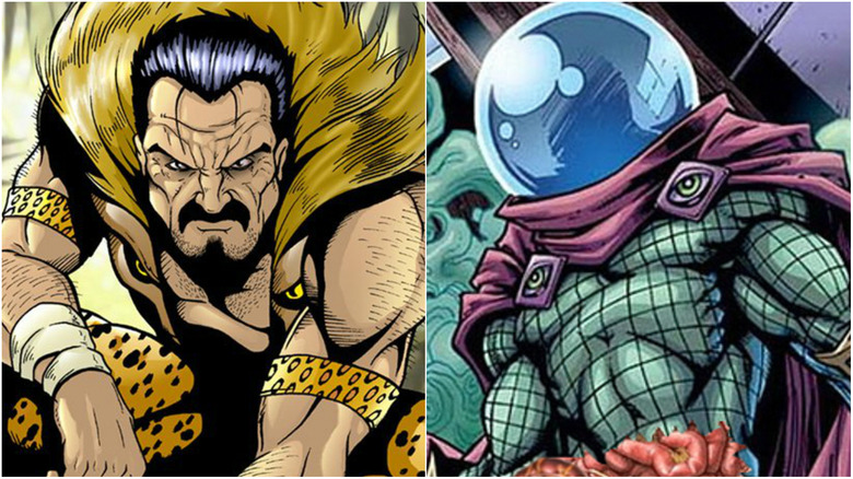 Kraven and Mysterio to...