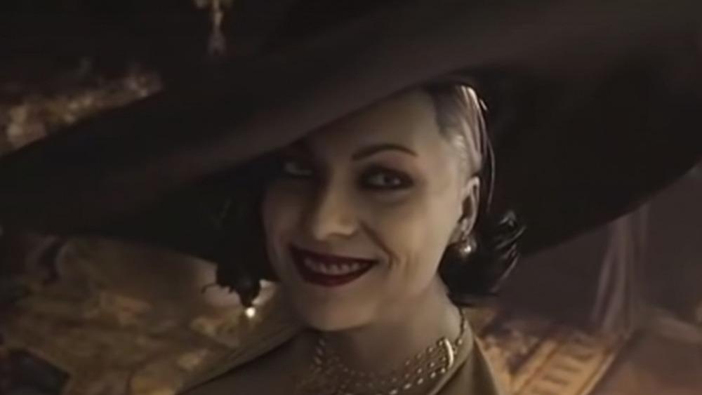 Lady Dimitrescu smiles