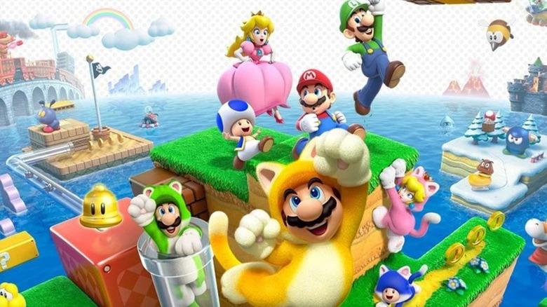 Super Mario 3D World promo art