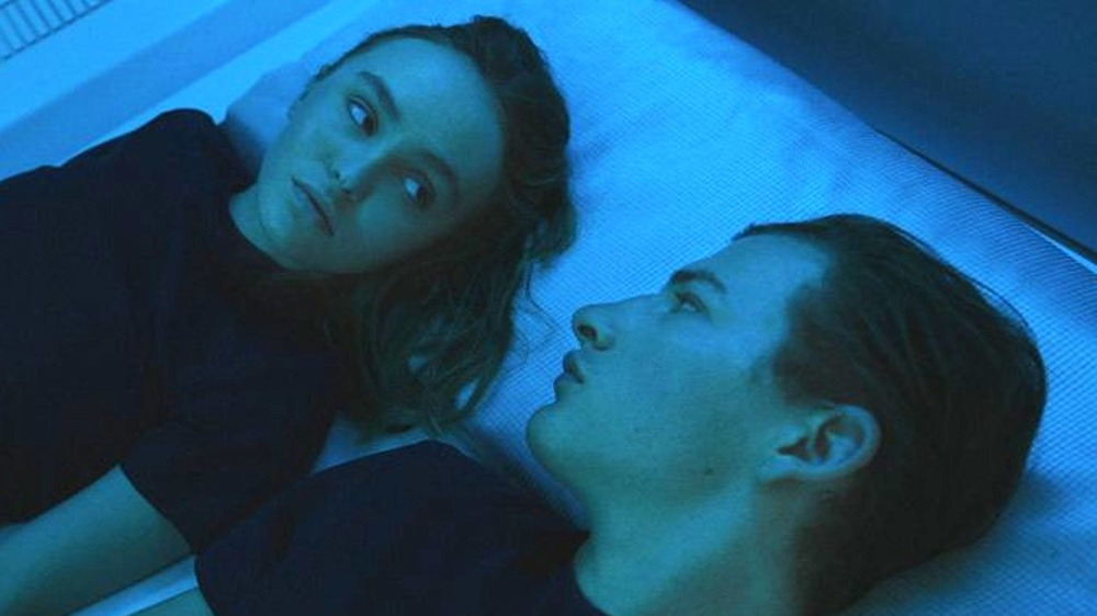 Tye Sheridan and Lily-Rose Depp in Voyagers